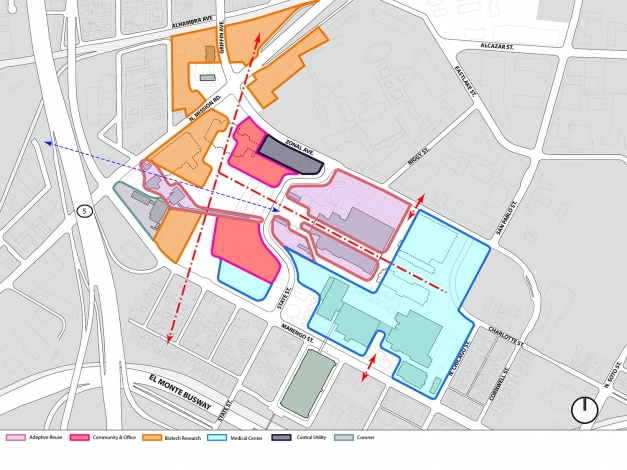 LAC + USC Master Plan | Moore Ruble Yudell Architects & Planners